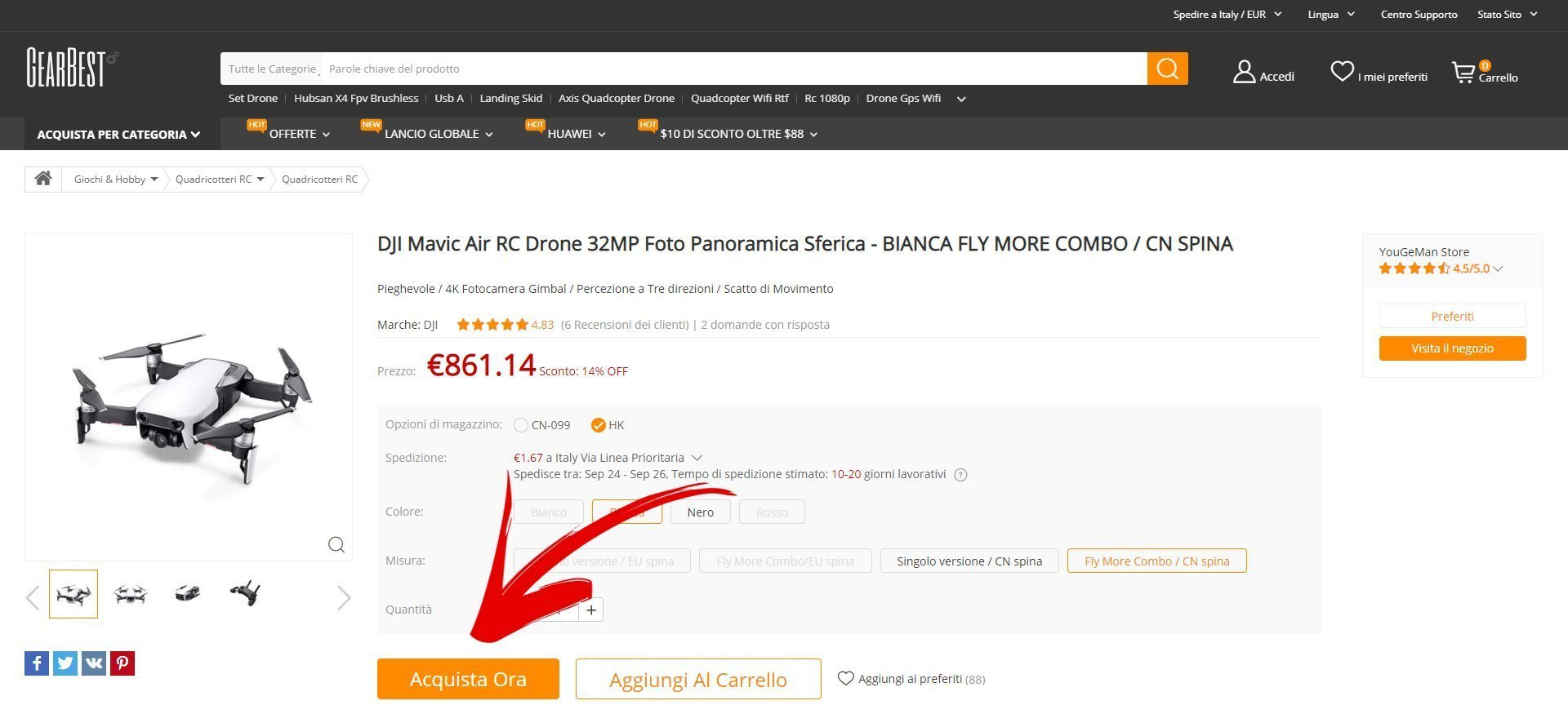 Come usare i coupon di gearbest