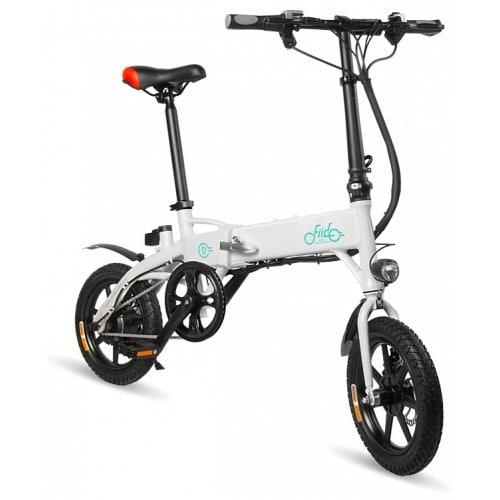 FIIDO D1 Bicicletta Elettrica Pieghevole Ciclomotore - BIANCA 10.4AH