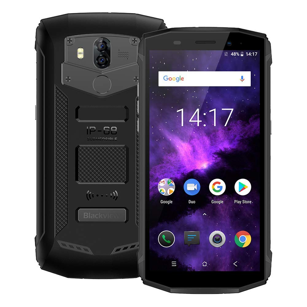 Blackview BV5800 Rugged Smartphone IP68 impermeabile, 5.5 Pollici Android 8.1 4G Telefono,MTK6739 Octa-core 1.5GHz, 2GB RAM 16GB ROM,13.0MP+8.0MP Camera