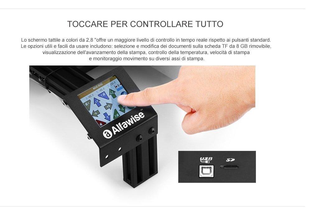 Stampante 3d - Alfawise U30 Display touchscreen