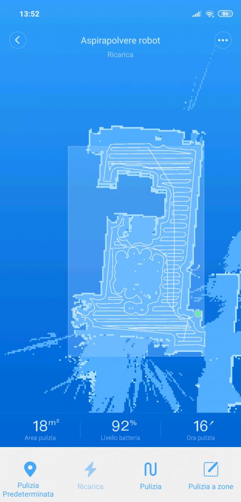 Xiaomi Roborock S50 recensione - mappa virtuale