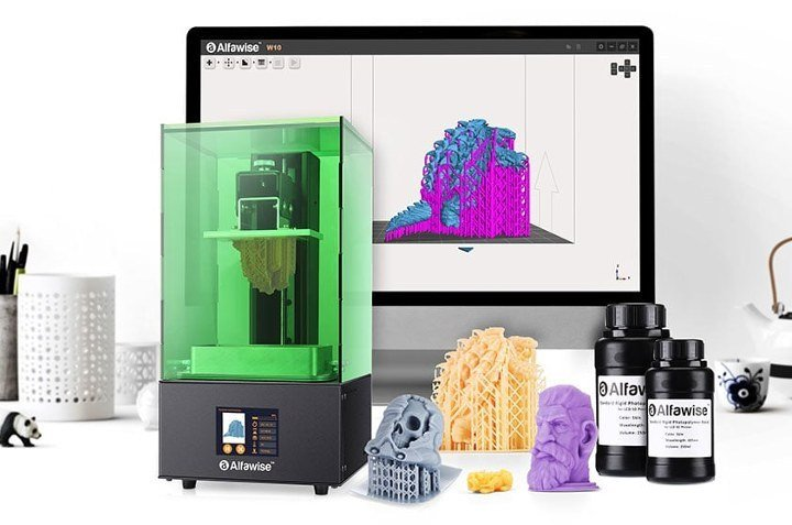 Alfawise W10 - Stampante 3d in resina