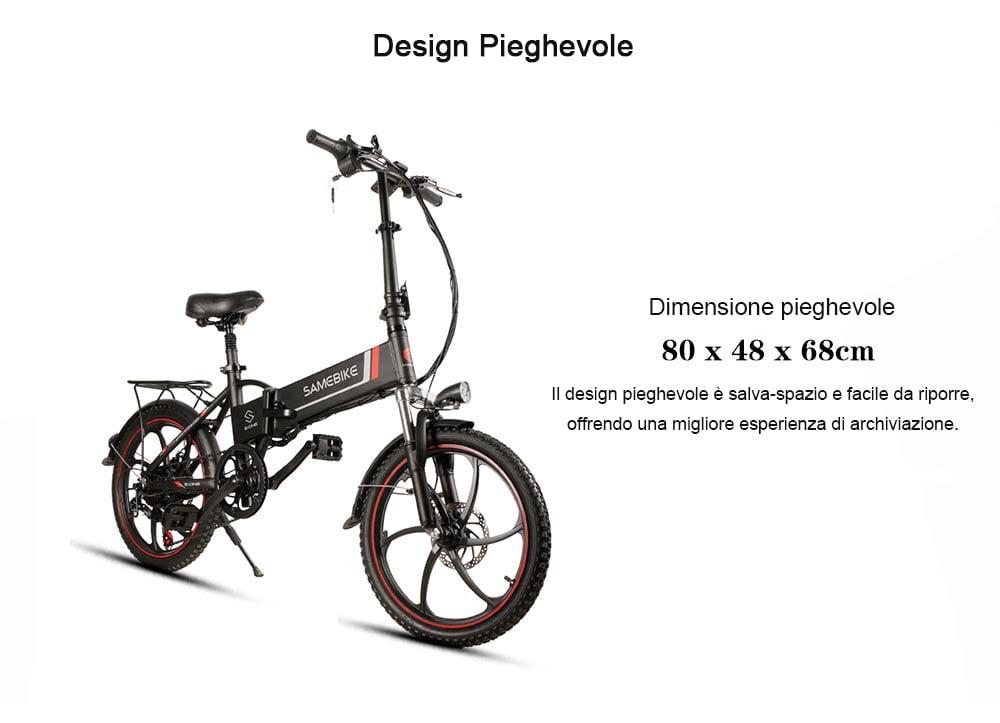 Samebike 20LVXD30 Bicicletta Elettrica Pieghevole Intelligente - Nero EU Spina 271493401