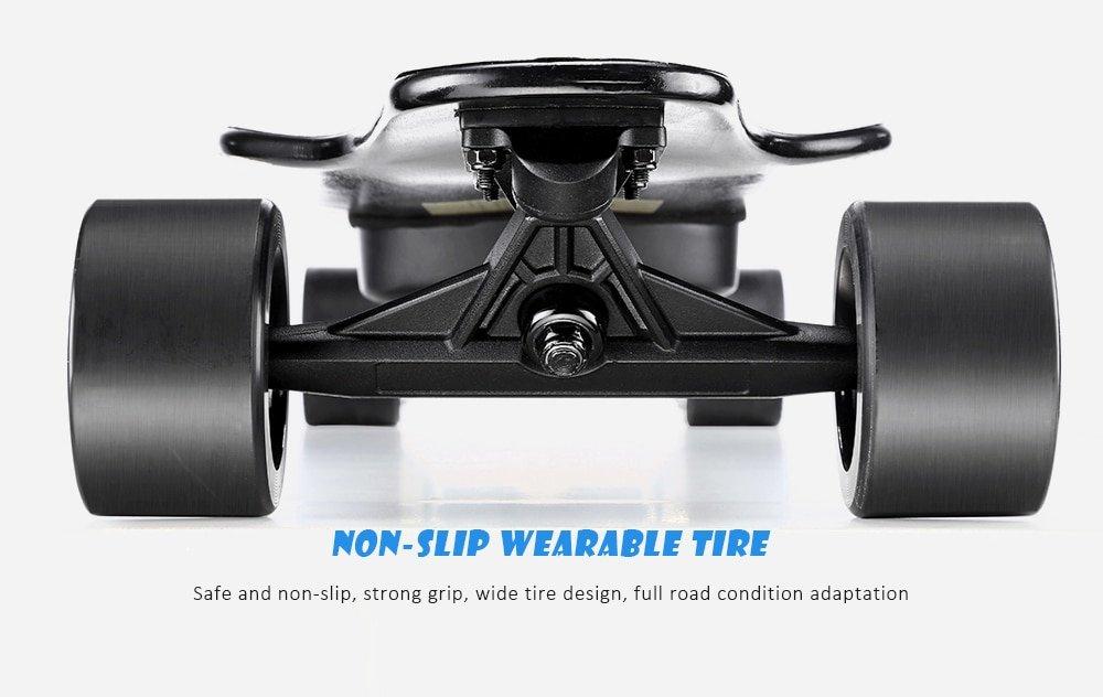 Skateboard elettrico con motore a doppio mozzo Alfawise Verreal