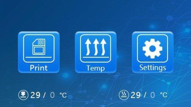 Display Touch con icone facili e intuitive