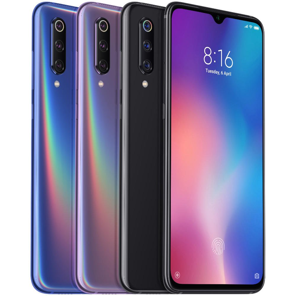 Xiaomi Mi9 Mi 9 Global Version 6.39 inch 48MP Triple Rear Camera NFC 6GB 64GB Snapdragon 855 Octa core 4G Smartphone - Ocean Blue