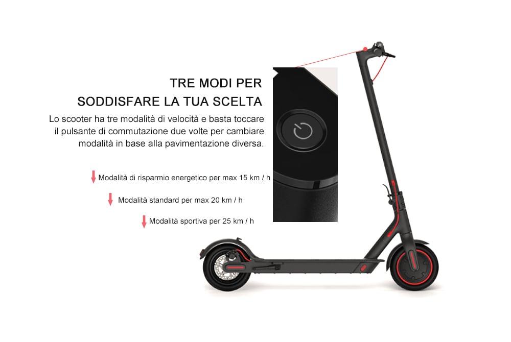 Xiaomi Mijia Electric Scooter Pro 3 modalità di getione energetica
