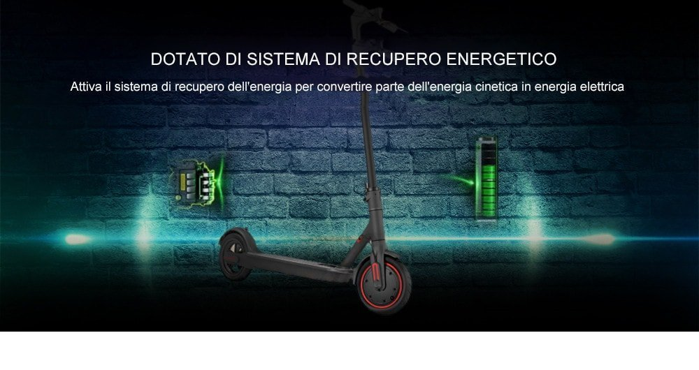 Xiaomi Mijia Electric Scooter Pro - recupero energia cinetica