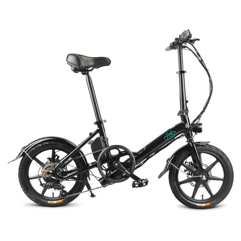 FIIDO D3 Shifting Version 36V 7.8Ah 300W 16 Inches Folding Moped Bicycle 25km/h Max 60KM Mileage Electric Bike - Black