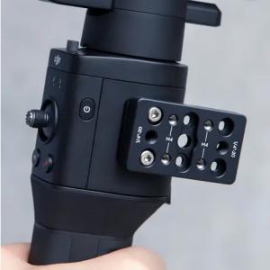 """Piastra forata Dotata di fori 1/4""""-20 per l'installazione di vari accessori."""