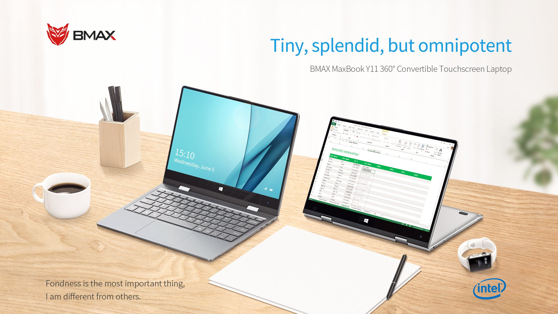 BMAX Y11 notebook tablet convertibile a 360°