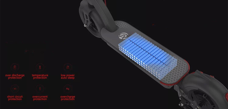 Batteria da 48v da 17,5ah in grado di erogare quindi 840 watt ora