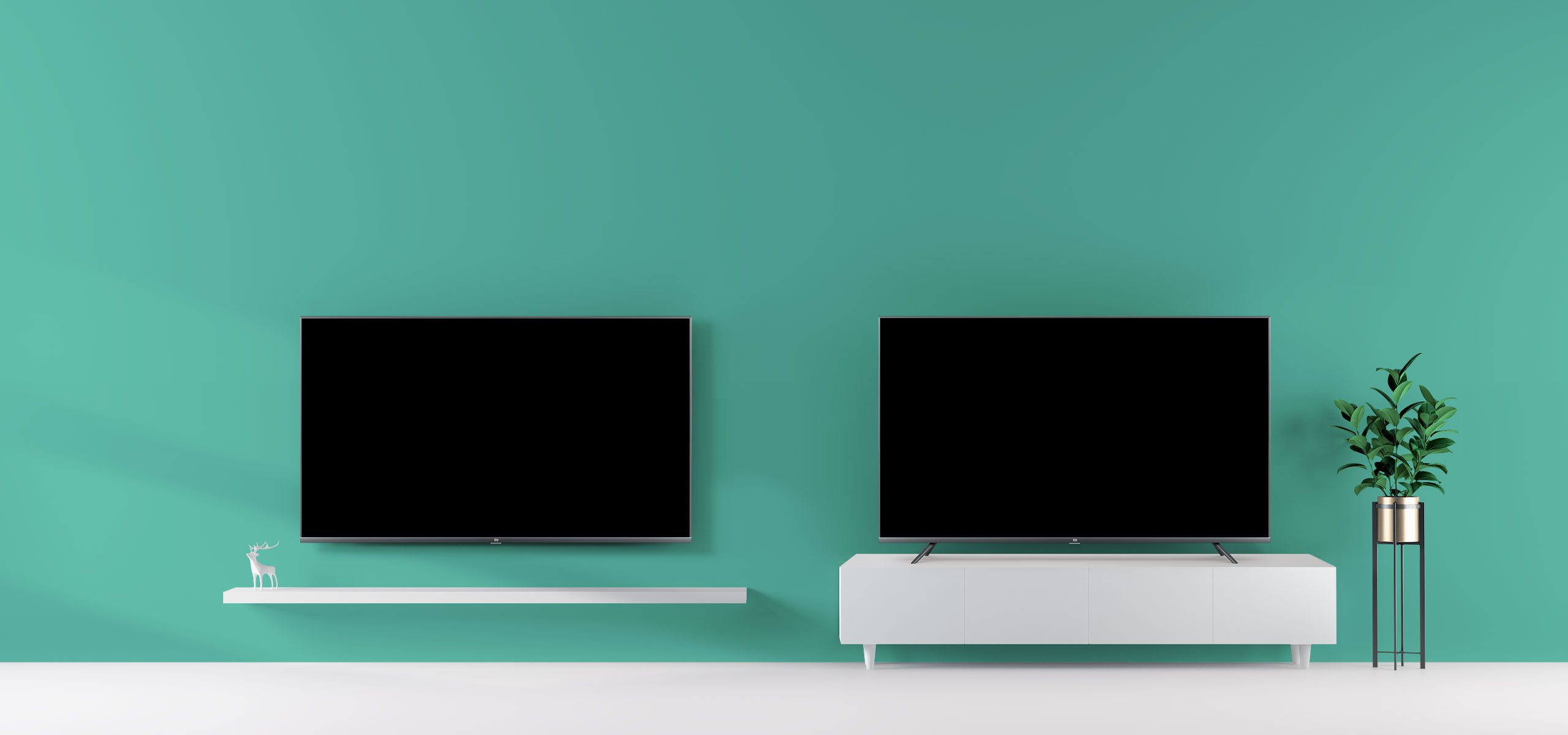 Xiaomi Mi Tv 4s : possono essere utilizzate anche con staffa a muro