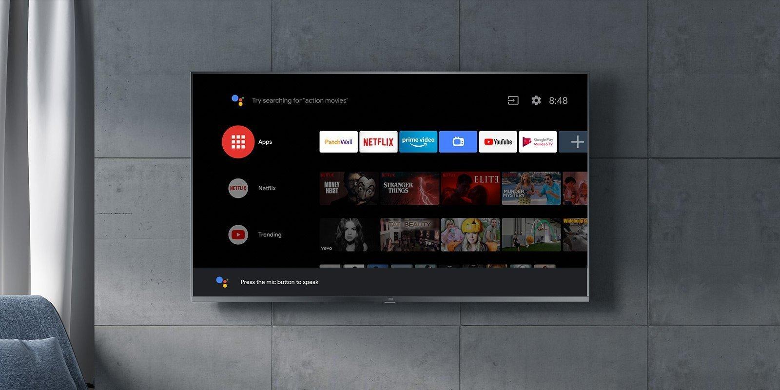 Xiaomi Mi Tv equipaggiate da android tv