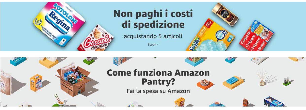 amazon pantry - spesa da casa e spedizione gratuita