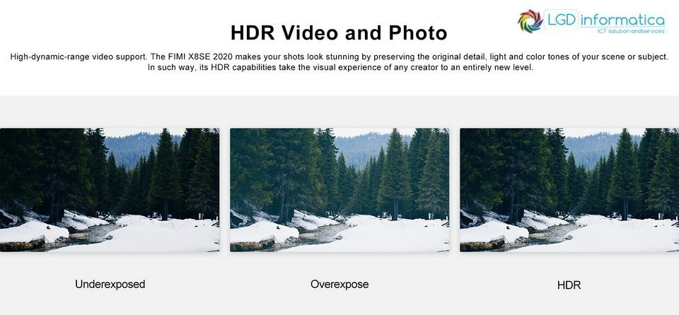FIMI X8 SE 2020 4K HDR FOTO E VIDEO