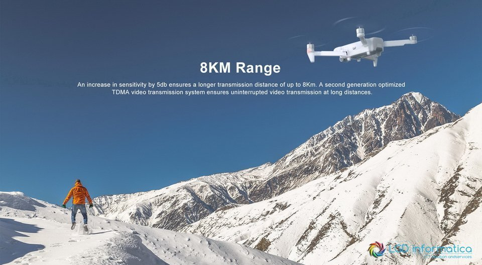 FIMI X8 SE 2020 range 8km