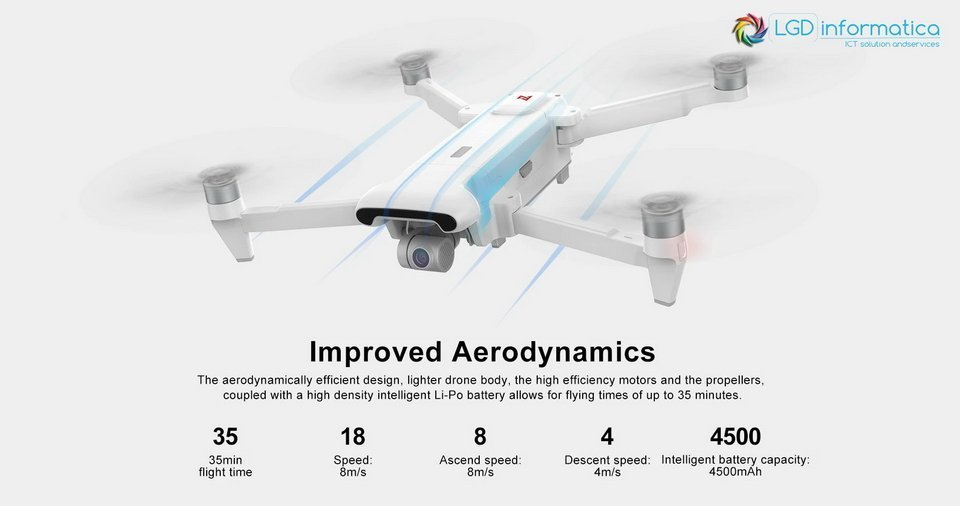 FIMI X8 SE 2020 nuova aerodinamica