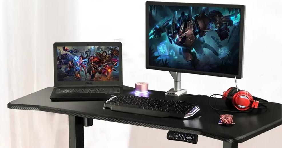 Loctek scrivania regolabile in altezza motorizzata XIAOMI YOUPIN ripiano in fibra di carbonio
