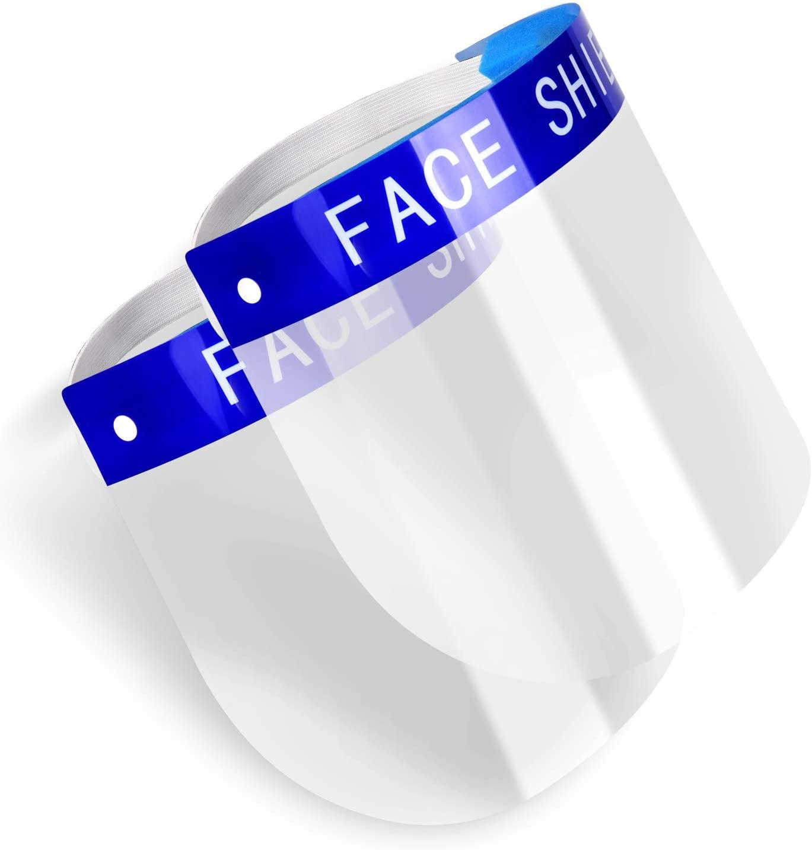 Visiera protettiva con lente anti appannamento trasparente,  2 pezzi