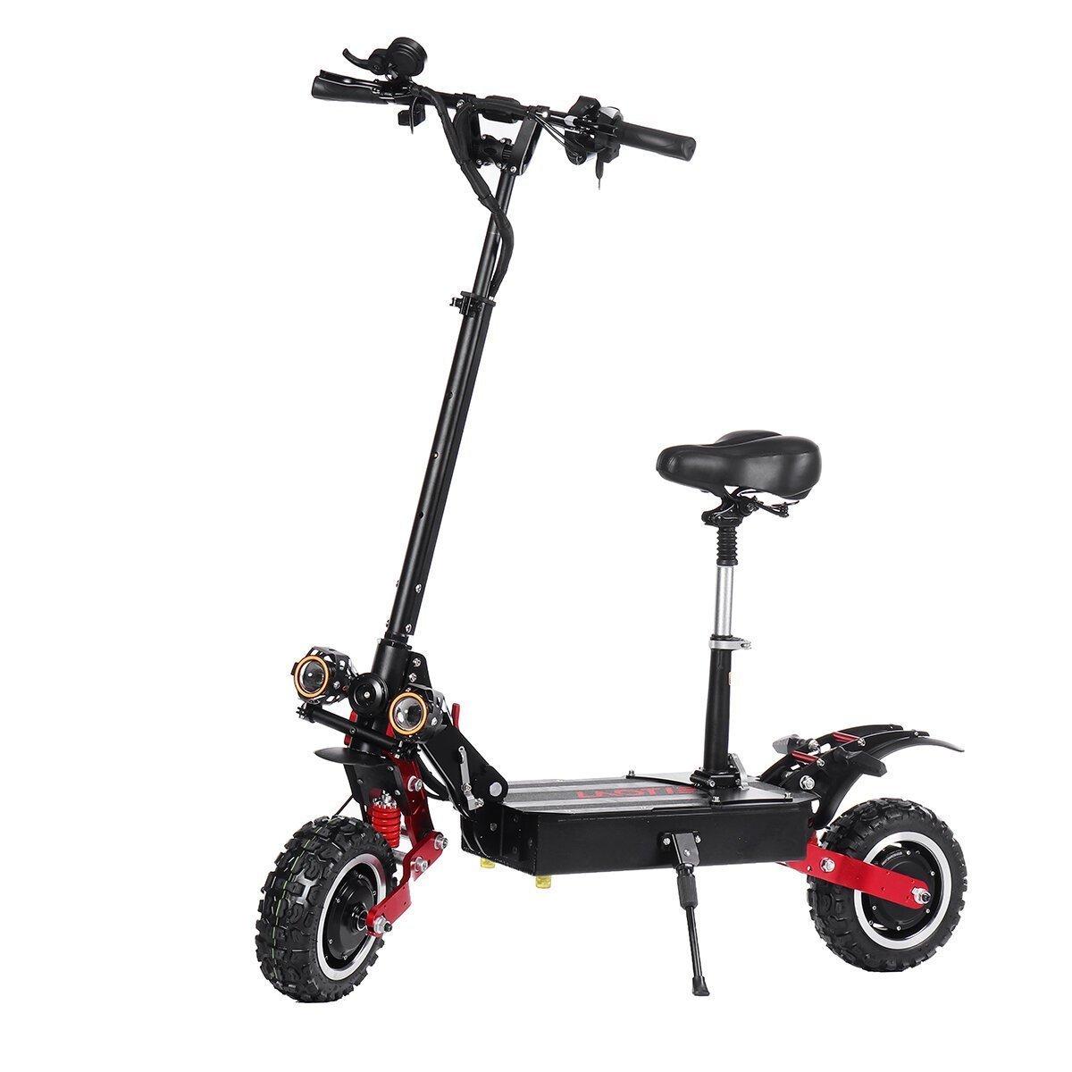 LAOTIE ES18 60V 31.2Ah 2800W * 2 Scooter elettrico pieghevole a doppio motore con sella 85Km / h Velocità massima 100km Autonomia Offerta Offerta #Banggood #BlackFriday2020